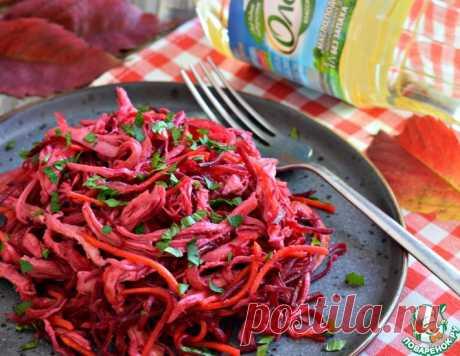 Салат овощной с курицей – кулинарный рецепт