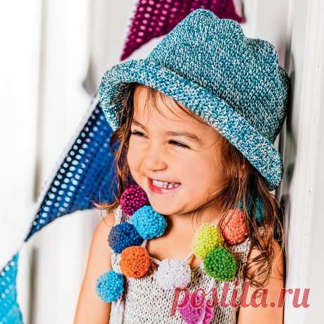 Шляпка от солнца для девочки - схема вязания крючком с описанием на Verena.ru