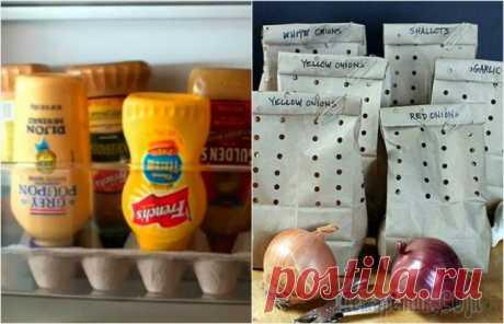 Кухонные лайфхаки: 19 маленьких секретов правильного хранения продуктов