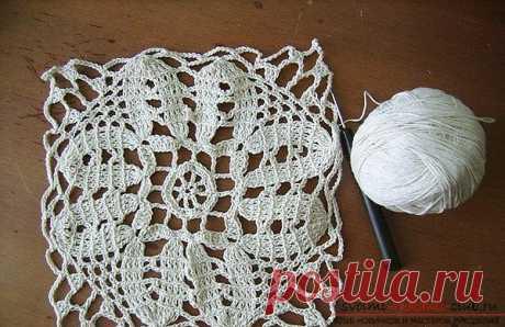 Схема вязания скатерти крючком для профессионалов, такую скатерть можно приподнести в качестве подарка