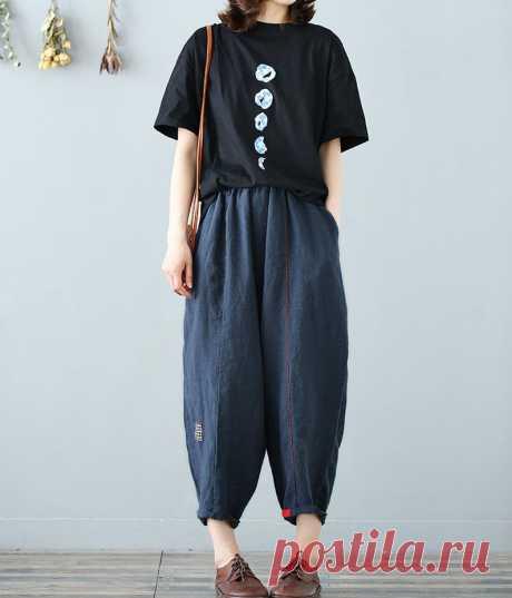 Women Summer Pants Elastic Waist Pants Large Size Trousers | Etsy