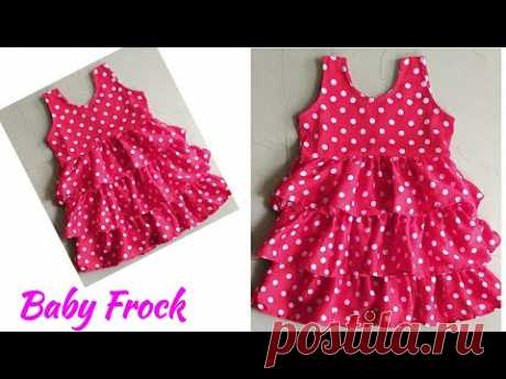 Baby Frock/Layer Baby Frock Cutting and Stitching|Frill Layer Baby Frock Cutting and Stitching