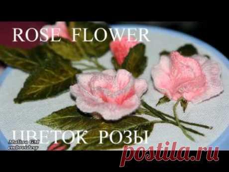 Объемная вышивка. Розы