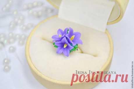 Делаем кольцо с нежными колокольчиками из полимерной глины - Ярмарка Мастеров - ручная работа, handmade