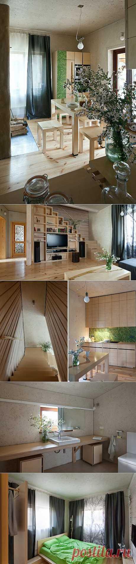 Home in the Log Cabin – эко-дом от украинских дизайнеров   Идеи вашего дома   Архитектура и интерьер