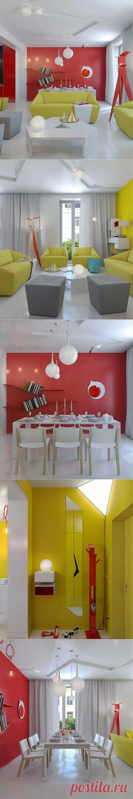 (+1) - Яркий дизайн квартиры | МОЙ ДОМ