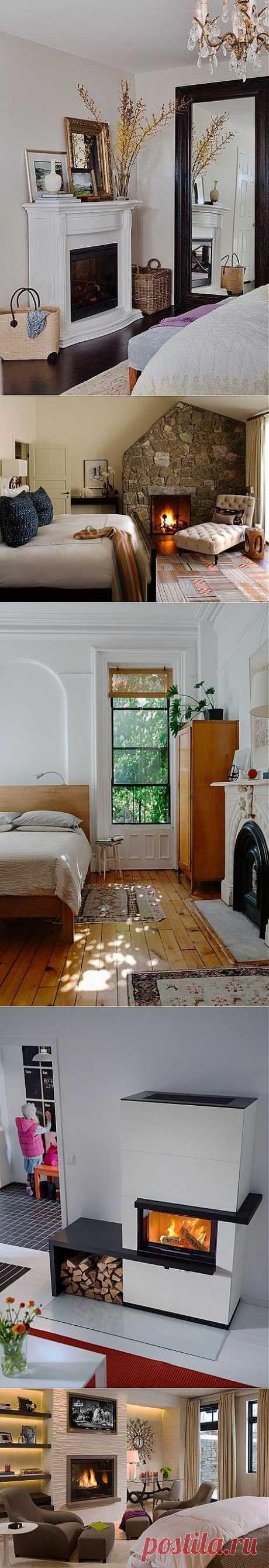 Интерьеры спальни с камином. Печи и камины от «Арт Камин» .