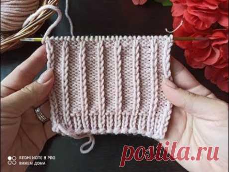 Очень простой узор для вязания свитера, джемпера, кардигана, шапки.