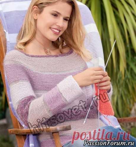 Женский пуловер реглан - запись пользователя Лисик (Светлана) в сообществе Вязание спицами в категории Вязание для женщин спицами. Схемы вязания спицами