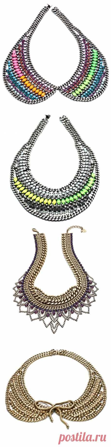 Воротнички из цепей / Ювелирные украшения / Модный сайт о стильной переделке одежды и интерьера