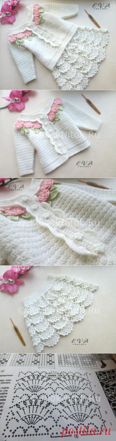 Костюмчик от Eva Crochet | Вязание для девочек | Вязание спицами и крючком. Схемы вязания.