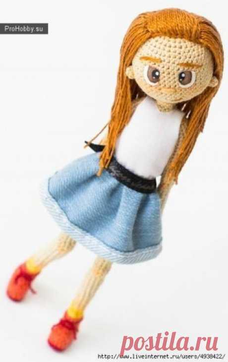 Вязание игрушек кукол спицами и крючком