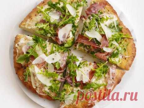 Пицца с руколой и прошутто рецепт | Гранд кулинар