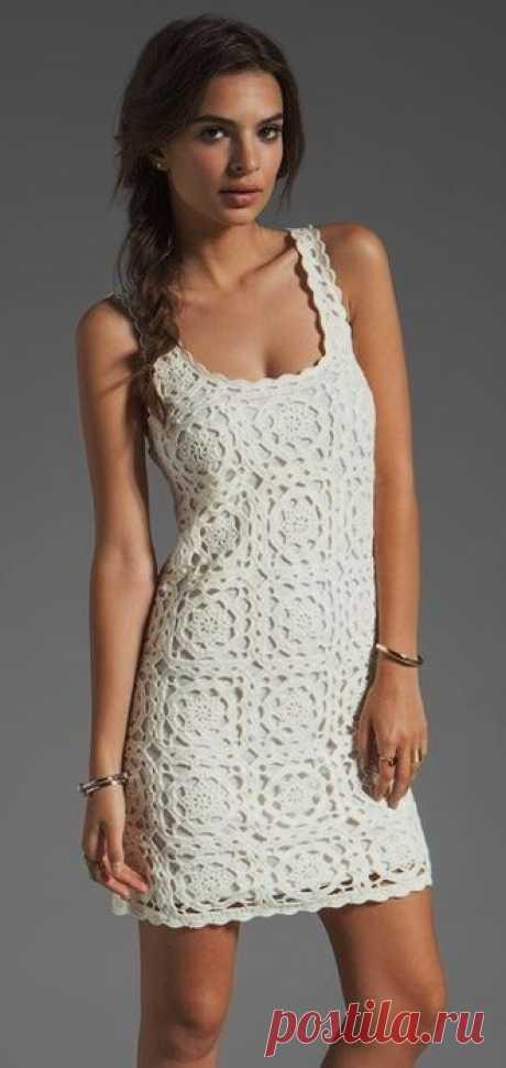 Ажурное платье-майка