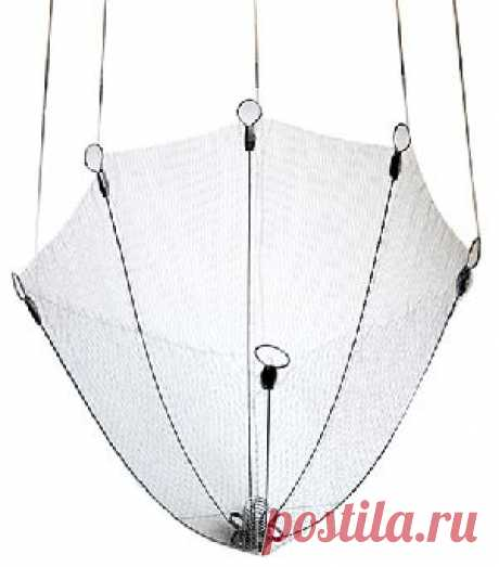 Зонт-подъемник универсальный из лески 0,3 мм, ячейка 16 мм, диаметр 1,6 м. - Зонты-подъемники <- Подъемники (пауки) <- Сетематериалы - Интернет-магазин