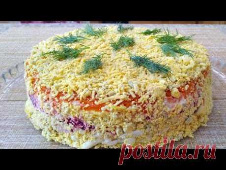 Серьезный  Конкурент Селедке ПОД Шубой ** Очень Вкусный Сытный Салат...УЗБЕЧКА ГОТОВИТ!!!
