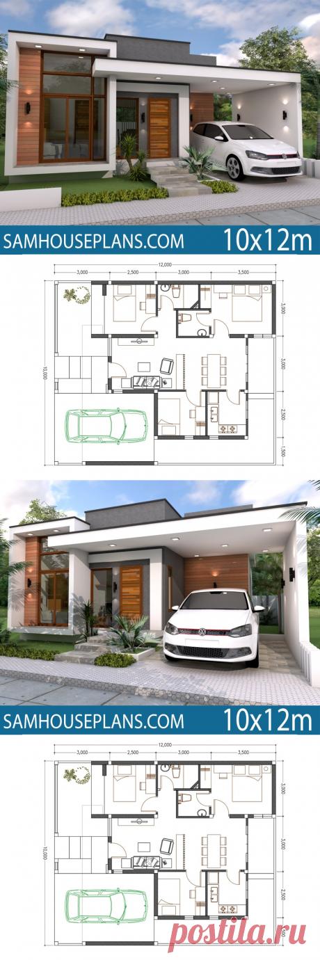 Home Plan 10x12m 3 Bedrooms - SamHousePlans