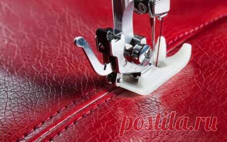 Как шить кожу на швейной машинке: на что обратить внимание