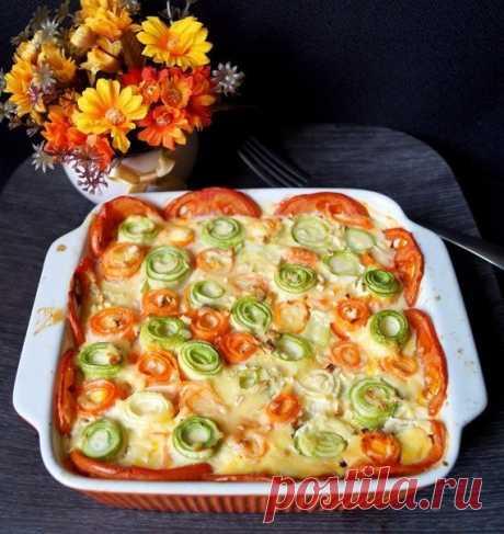 Красивая овощная запеканка — Вкусные рецепты