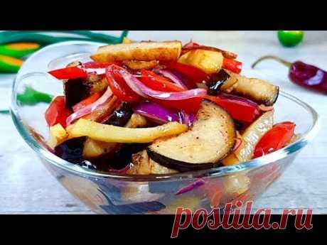 НОВЫЙ РЕЦЕПТ САЛАТА ИЗ БАКЛАЖАНОВ! Салат из баклажанов Не по корейски. Но тоже очень вкусно!