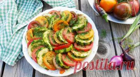 Закуска из кабачков с помидорами Наша дачная, пошаговый рецепт с фото