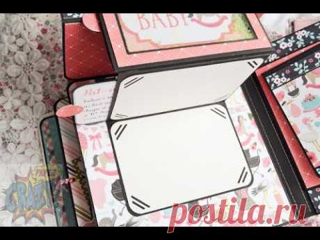 Pop up  Z-отворот/page №5/DIY book/Tutorial video/Scrapbook Ideas/pop up album/anniversary scrapbook