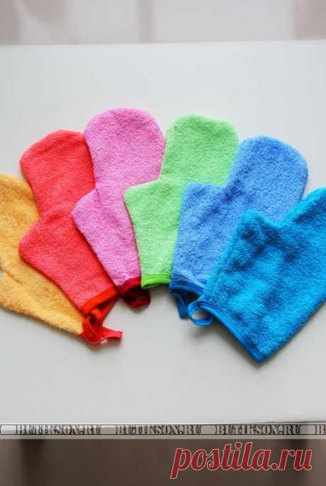 Махровая рукавица для бани