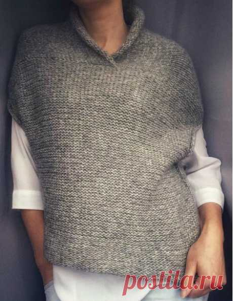 The great knitter Svetlana Menshikova published the description of the sleeveless jacket, maybe, it will be pleasant to whom!
