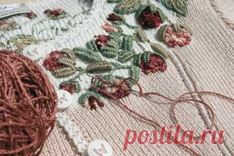 Как вышивать на вязаных изделиях - Сам себе волшебник