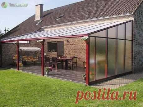 Как сделать крышу из поликарбоната для террасы🙌