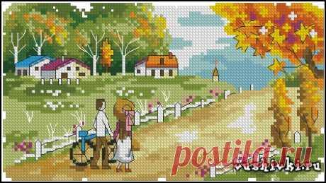 Осень » Вышивка, бесплатные схемы вышивки крестом, рукоделье.