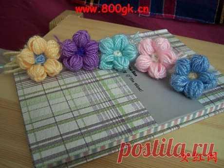 Цветочки крючком на карандашах, для вязания пледов, покрывал, подушек и сидушек