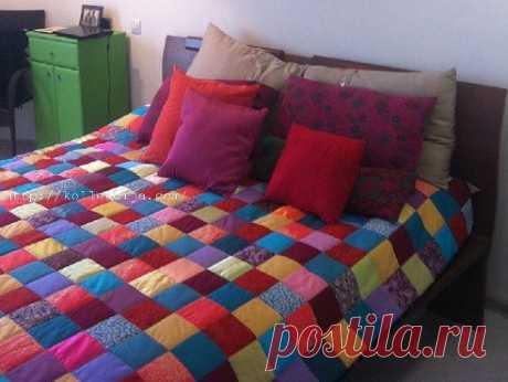 Как сделать одеяло из квадратов своими руками. https://kollekcija.com/odeyalo-iz-kvadratov-svoimi-rukami-master-klass-alenyi-mushtenko/
