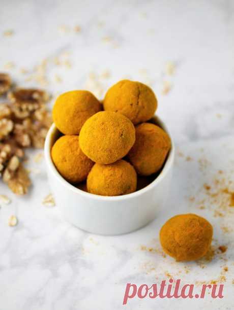 Шарики с грецким орехом и куркумой | Salatshop ♥ You