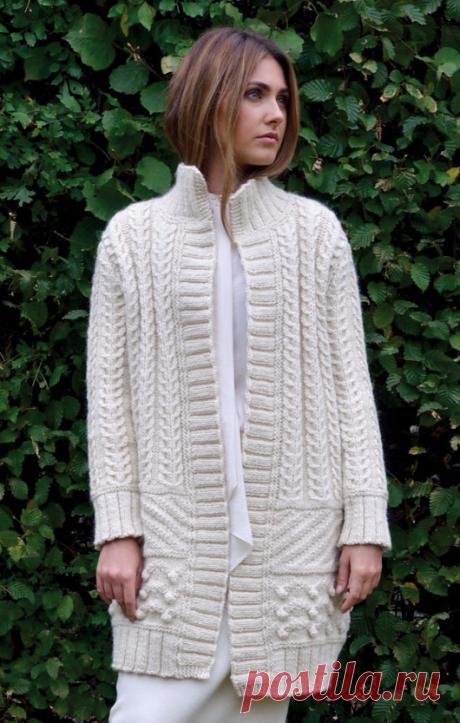 Вязаное пальто True | ДОМОСЕДКА