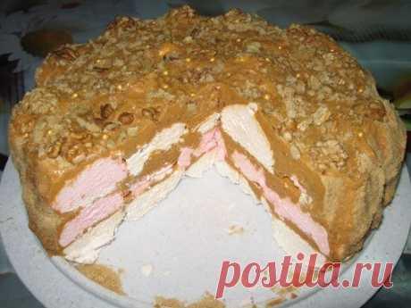 Как приготовить простой зефирный торт (торт без выпечки). - рецепт, ингредиенты и фотографии