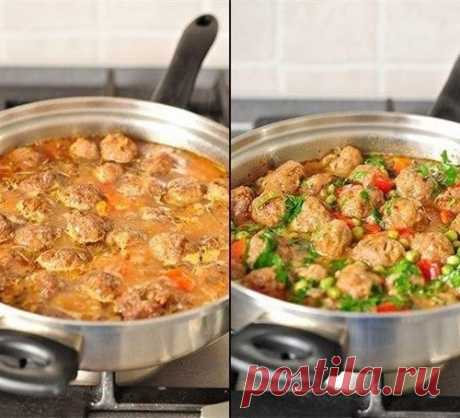 Как приготовить вкусное овощное рагу с фрикадельками