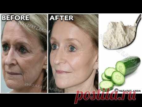 Как сделать волшебный крем с огурцом🥒 для удаления морщин под глазами и шеей