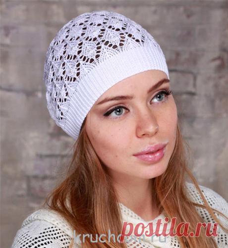 Схемы вязания летних шапочек крючком - бесплатные схемы и описания для детей и взрослых : Kruchcom.ru