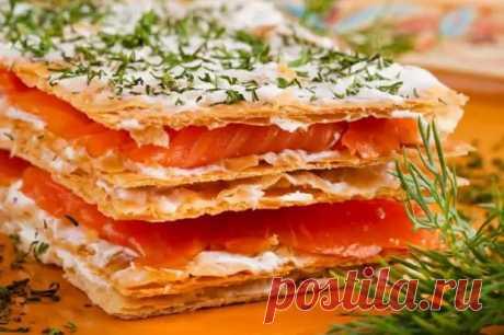Рыбный Наполеон: закусочный рыбный тортик делается за полчаса - Скатерть-Самобранка - медиаплатформа МирТесен
