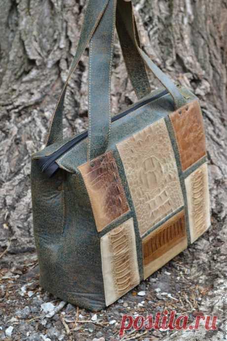 Шьем кожаную сумку - Ярмарка Мастеров - ручная работа, handmade
