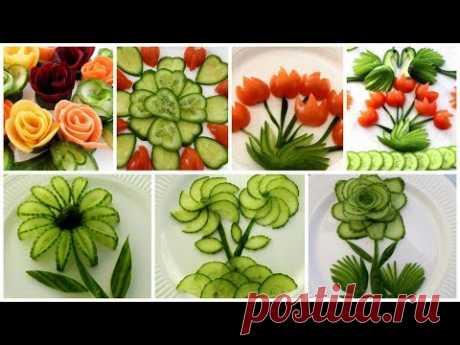 10 Super Salad Decoration Ideas - Vegetable Flower Plate Decoration