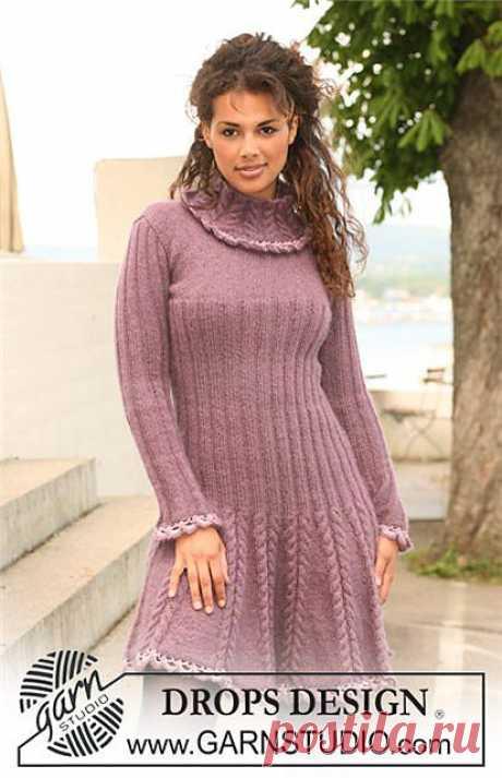 Очень красивое платье - вязание от ДРОПС..