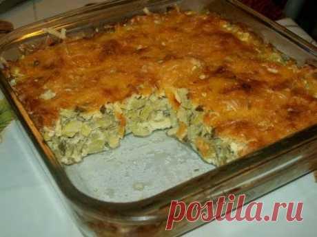 Кабачки,запеченные с сыром-объедение