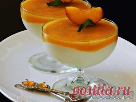 Десерт из творога с желатином и фруктами - рецепт с фото