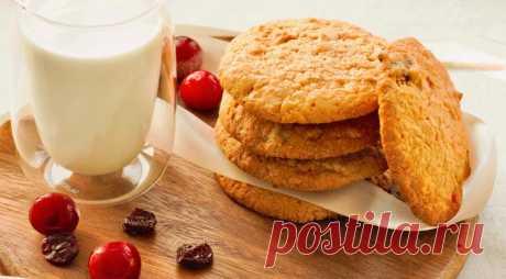 Овсяное печенье с сушеной вишней, пошаговый рецепт с фото