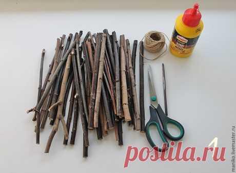 Мастер-класс : Делаем основу для панно из палочек   Журнал Ярмарки Мастеров
