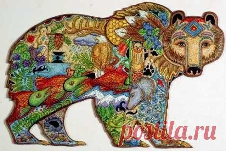 Шаблоны раскраски животных для любителей кропотливой работы.