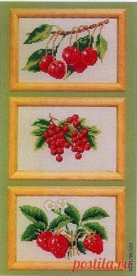 """Вышивка """"Спелые фрукты и ягоды"""""""