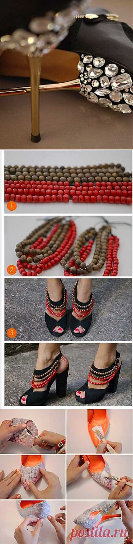 Как украсить старые туфли | Ladies venue